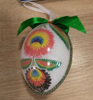 Jajko z wzorem folklorystyczne