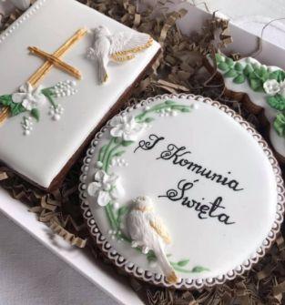 Pierniki z okazji I Komuni Świętej